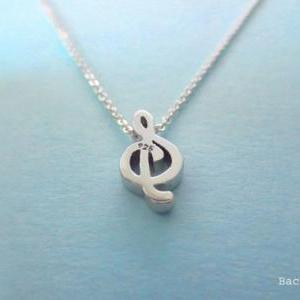 cute g clef music lovers sterling s..