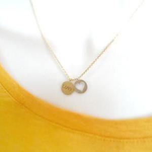 Love/Luck, Coin, Necklace, sweet & ..