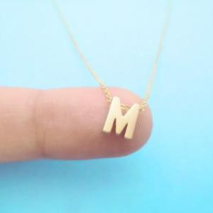 Intial Gold Plated Necklace, Alphab..