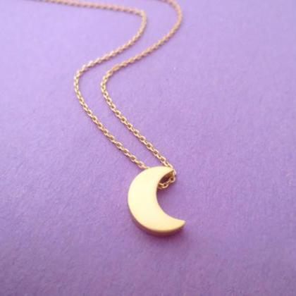 Silver, Moon, And, Gold, Star, Neck..