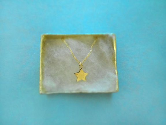 cute, twinkle star, charm on fine gold plated chain, necklace