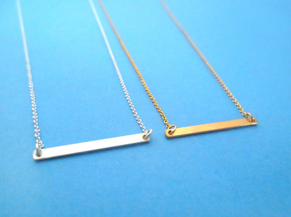 Dash - Beautiful, Sterling Silver, Bar, Necklace