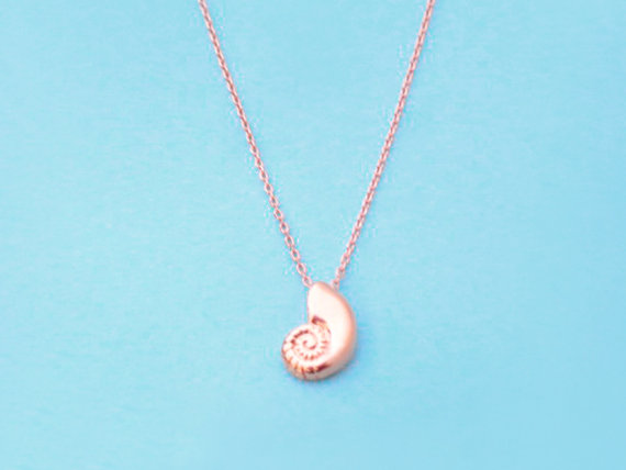 Ariel Voice, Pink Gold Plated, Rose Gold Plated, Seashell, Necklace