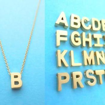 Intial goldfilled necklace, Alphabet, Letter necklace